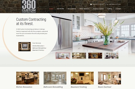 web design for home contractors and renovation companies